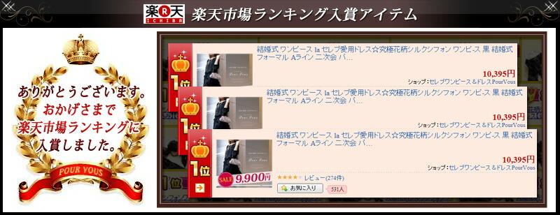 入賞ランキング1位