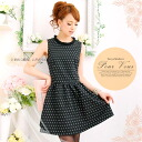Wedding and formal dress d: Association LA dress gorgeous adult invited flared cotton dot pattern ladies 1241 fall new larger size