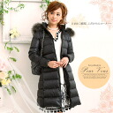 Down coat outer down coat long down coat long down jacket down raccoon fur fur food Lady's big size new work 1528