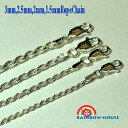 Hawaiian jewelry for 3 mm width 55cmSilver925 rope chain ☆ ☆