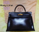 35 ★ HERMES ★ Hermes Kelly bag black bag ★