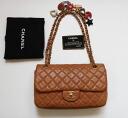 @ @ @ ★ CHANEL Chanel Valentine matelasse shoulder bag 25 G metal Brown