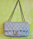 ★ CHANEL ★ Chanel matelasse 25 lamb SV hardware shoulder bag Mint ★