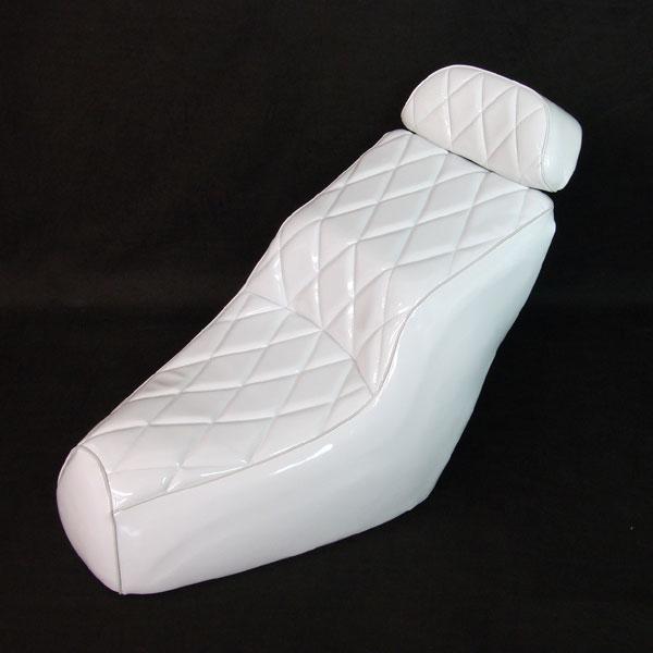 フュージョン MF02 ダイヤカット ホワイト 白 エナメル カスタム シート 外装 パーツ ホンダ FUSION