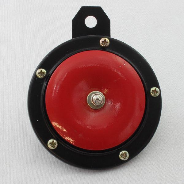 汎用 高品質 大音量 シングル ホーン ブラック/レッド 90mm