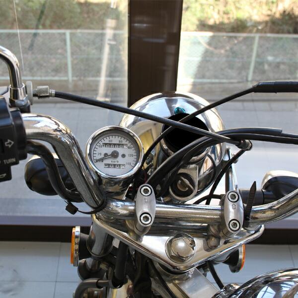 汎用 ミニスピードメーター 140km/h ステー・バックライト付