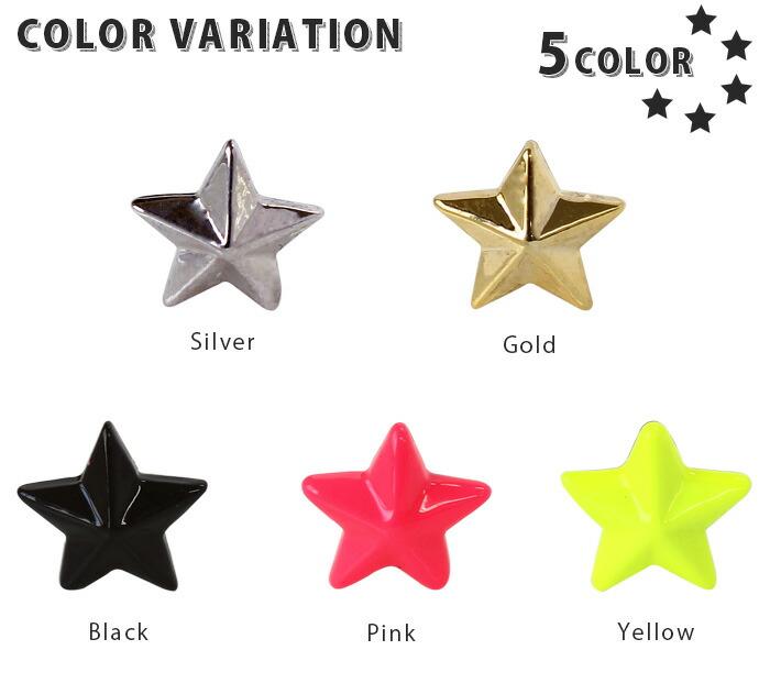 カラーバリエーション 5カラー シルバー ゴールド ブラック ピンク イエロー