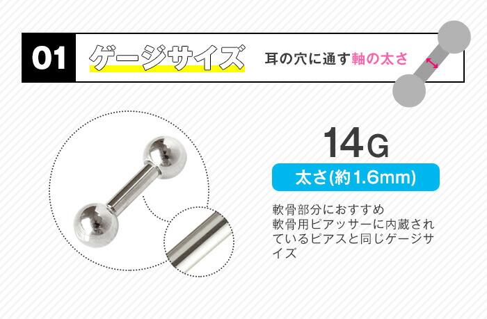 ゲージサイズ 14G