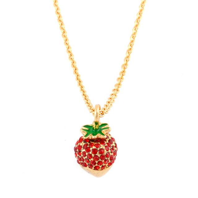 ケイト・スペード kate spade NEW YORK Outside The Box Strawberry Mini Pendant チョコがけイチゴモチーフ ペンダント ネックレス