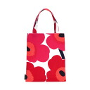 Marimekko Tote unikko marimekko eco bag folding Tote Womens Bag PIKKIS BAG OFFICE Red Red 036744 001