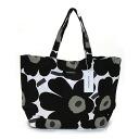 Large tote bag unikko marimekko Marimekko Tote canvas shoulder bag ladies bag 038151 030 white/black/olive