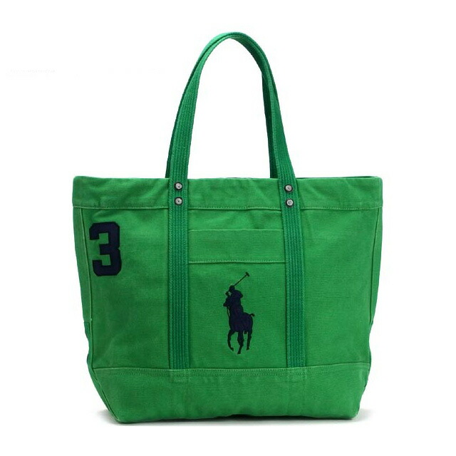 Ralph Lauren Polo White Canvas Big Pony Handbags