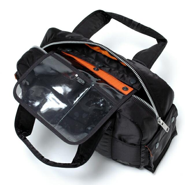 タンカー/TANKER ボストンバッグ(L)ブラック:取り外し可能なポケット