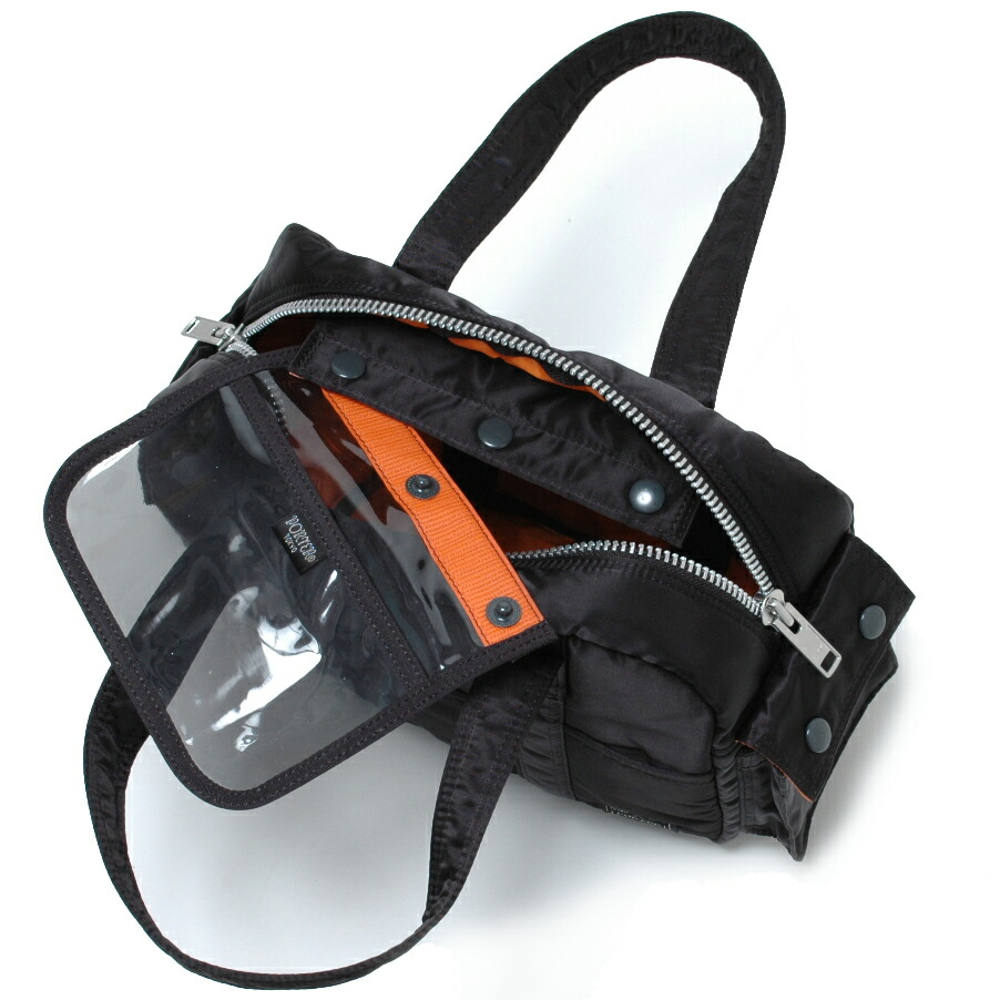 タンカー/TANKER ボストンバッグ(S)ブラック:取り外し可能なポケット