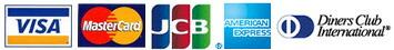 ���쥸�åȥ����ɡ�VISA/Master Card/JCB/AMERICAN XPRESS/Diners Club International��