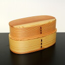 Bending lunch Bento box double magewappa nesting (transparent) (wooden bentwood work)