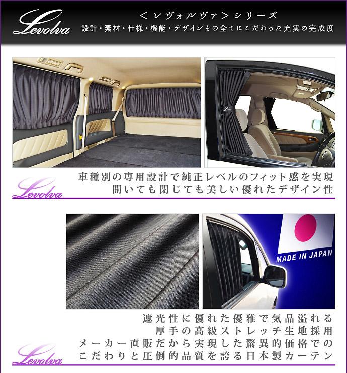 Levolva車種専用カーテンはデザイン性に優れた日本製カーテン