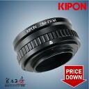 It is with KIPON( キポン) Olympus OM mount lens - Fuji Film X mount adapter macro / copter Koido