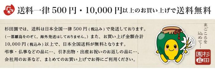 送料一律500円・1万円以上のお買い上げで送料無料。