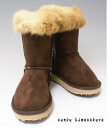 Was pretty with a boa mouton-like during popular soft and fluffy fur boots Brown this year; or ♪ kids boots fs04gm