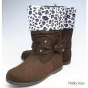 Inventory overload ☆ rhinestone リボンスウェード boots for kids ブーツブラウン tea