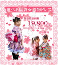 Princess kimono lucky bag ☆ kimono dress child service ☆ Kyoto hand dyeing crape specifications princess-style Aoi same day shipment Seven-Five-Three Festival lucky bag available