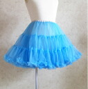 It is dance clothes for eight colors of celebration ranking ☆ soft and fluffy princess pannier aqua blue child service ゴスロリ