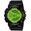 G shock Casio 6600 Hyper Colors an analog-digital display GA-110B-1a3jf black keynote green dial