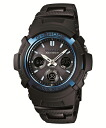 "G shock g-shock ""watch AWG-M100BC-2AJF genuine men's blue collar AWG-M100 adoption"