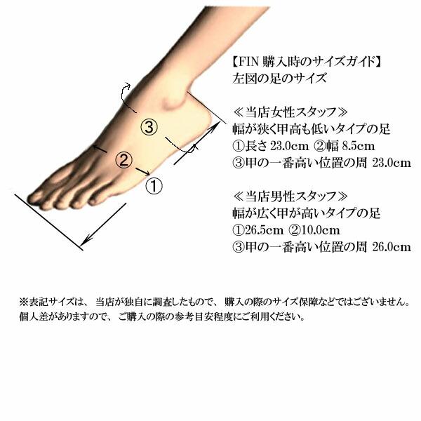 オフィングオリジナル!【FIN購入時のサイズガイド】
