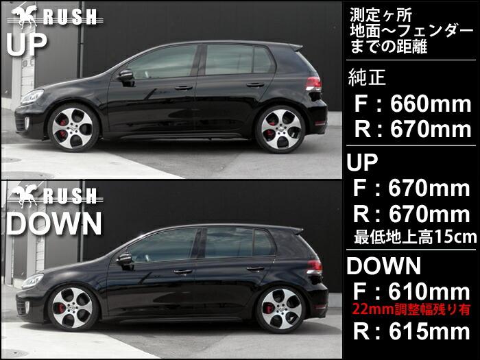 RUSH車高調-ゴルフ6