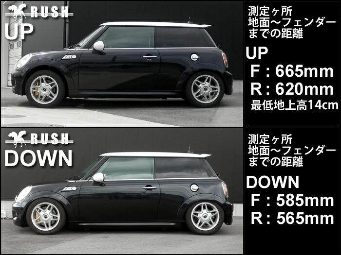 RUSH車高調-R56ミニクーパーS