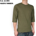 New U.S. military PFU 34 Sleeve T shirt olive cut & sew military U.S. military