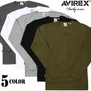 AVIREX-avirex daily wear long sleeve crew neck 5 colors definitely hurt is not the ultimate staple items one less ユーティリティーウェア