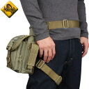 MAGFORCE magforce MF-0401 Thermite Waistpack TAN shoulder bag & legs trapped leg can be fixed too