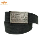 ALPHA Alpha-Tin BOX canvas logo GI belt black with nice private Tin BOX with a massive buckle exquisite workmanship