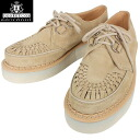 "a fs3gmGEORGE COX George Cox 3588 rubber sole Creeper-Gibson beige suede ""aesthetics"" in history please feel on your feet"