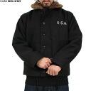 및 신품 미군 N-1 갑판 재킷 블랙 피리어드 모델을 채택한 고품질 복 밀리터리 아이템 입가 실물 보다 훨씬 잘 되어 있습니다