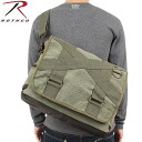ROTHCO rothco vintage OUTBACK Messenger bag olive durable canvas using vintage processing characteristics.
