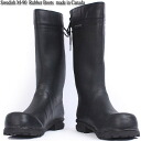 Real brand new Sweden military M-90 rubber boots made in Canada better feasibility of high fashionable boots with removable liners with