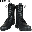 faithful reproduction of fs3gmHOUSTON Houston レザーコン combat boots black slim, neat shape, speed race spec US.ARMY military combat boots