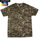 C.A.B.CLOTHING cab closing COOL NICE Camo short sleeve T shirt ピクセルウッドランド 6589-540 excels in durability and even 5 times fast-drying absorption sweat drying feature washing with grandchildren