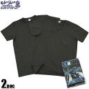 Pocket V Neck T Shirt American made of t-shirt packed Velva Sheen Sheen】Pack PAC 2 Pocket V-Neck t-shirt with BLACK 2-love is dying