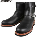 AVIREX avirex AV2225 HORNET short Engineer Boots black classic Engineer Boots NEW design