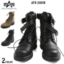 Classic long race types to attract the ALPHA Alpha AFB-20018 biker boots 2 colors the loutish man biker boots