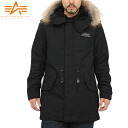 I direct luxurious size of the neck with real fur to the arrival fur of the M-51 Mods coat of the ALPHA alpha M-51 Mods coat rial fur BLACK present age