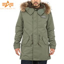 ALPHA Alpha m-51 mods coat real far D.OLIVE modern m-51 mods coat in stock fur with real far, produce gorgeous neck girth