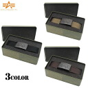 ALPHA Alpha-AL-BB004 Tin BOX with canvas 5 STAR BLACK BUCKLE GI belt color classic simple design and presence of exclusive buckle Tin BOX with it's great points