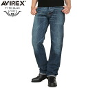 "AVIREX-avirex TYPE BLUE ""BILLY"" REGULAR FIT denim pants USED WASH.Virex avirex / men's / military/type BLUE / genuine /"