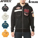 AVIREX-avirex 6123205 R66 PATCHED ZIP PARKA パッチジップ Parker 4-color AVIREX seems to be an attractive design モーターサイクルテイスト of atmosphere's allure parka